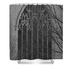 Cleveland Ohio Church Window Shower Curtain