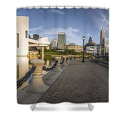 Cleveland Panorama Shower Curtain by James Dean
