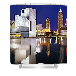 Cleveland Skyline At Dusk Shower Curtain