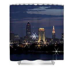 Cleveland Starbursts Shower Curtain