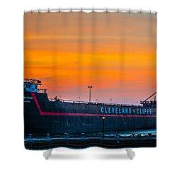 Cleveland Sunset Shower Curtain
