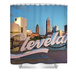 Cleveland's North Coast Shower Curtain by Brent Durken