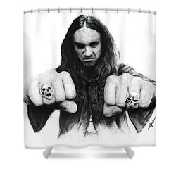 Cliff Burton Shower Curtain