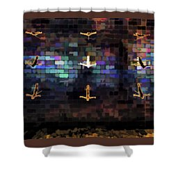 Cliff Diver Wall Shower Curtain