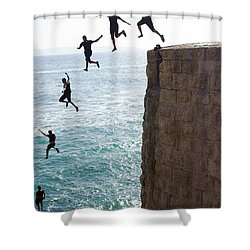 Cliff Diving Shower Curtain