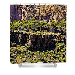 Shower Curtain featuring the photograph Cliff Edge by Jonny D