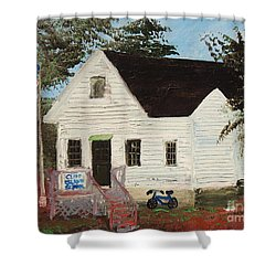 Cliff Island School Shower Curtain