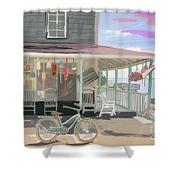 Cliff Island Store 2017 Shower Curtain