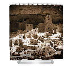 Shower Curtain featuring the photograph Cliff Palace Mesa Verde by Kurt Van Wagner