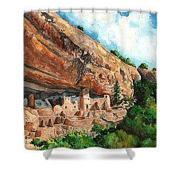 Cliff Palace Mesa Verde Shower Curtain