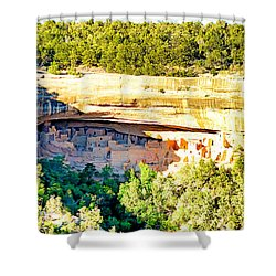 Cliff Palace Study 1 Shower Curtain