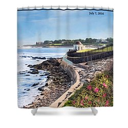 Cliff Walk Shower Curtain