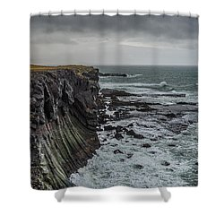 Cliffs At Arnarstapi Shower Curtain
