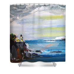 Cliffs By Colleen Ranney Shower Curtain