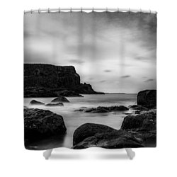 Cliffs Near Causeway Shower Curtain