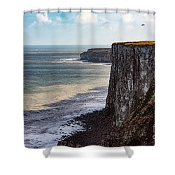 Shower Curtain featuring the photograph Cliffs Of Bempton by Anthony Baatz