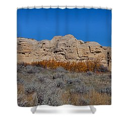 Shower Curtain featuring the photograph Cliffs Of Hoodoos by Fran Riley