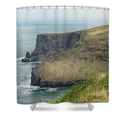 Cliffs Of Moher 1 Shower Curtain by Marie Leslie