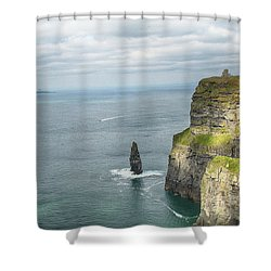 Cliffs Of Moher 3 Shower Curtain by Marie Leslie