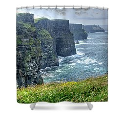 Cliffs Of Moher Shower Curtain by Alan Toepfer