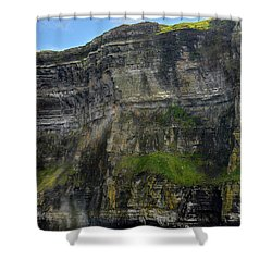 Shower Curtain featuring the photograph Cliffs Of Moher From The Sea Close Up by RicardMN Photography