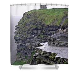 Cliffs Of Moher Ireland Shower Curtain by Charles Harden