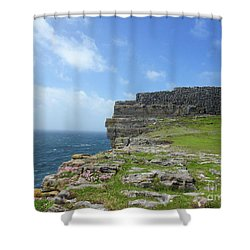 Cliffs Of The Aran Islands 3 Shower Curtain
