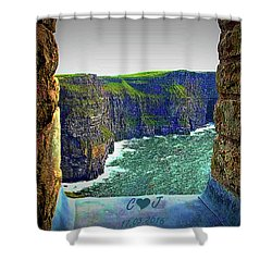 Cliffs Personalized Shower Curtain