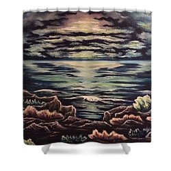 Cliffside Shower Curtain by Cheryl Pettigrew