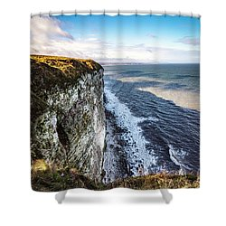 Shower Curtain featuring the photograph Cliffside View by Anthony Baatz