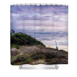 Cliffside Watcher Shower Curtain
