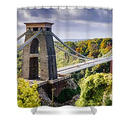 Clifton Suspension Bridge Shower Curtain