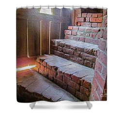 Climb The Brick Steps Of Time Shower Curtain