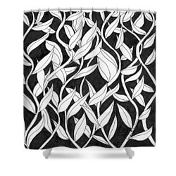 Climb The Vine Shower Curtain by Lou Belcher