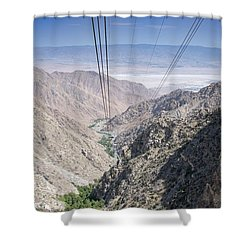Climbing Mount San Jacinto Shower Curtain