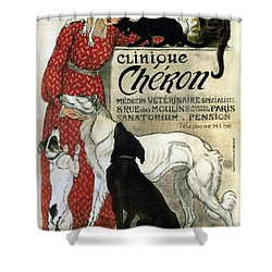 Clinique Cheron - Vintage Clinic Advertising Poster Shower Curtain