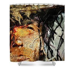 Clint Eastwood Shower Curtain by Michael Cleere