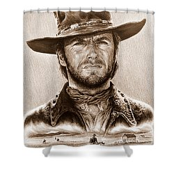 Clint Eastwood The Stranger Shower Curtain