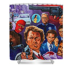Clint Shower Curtain by Michael Frank