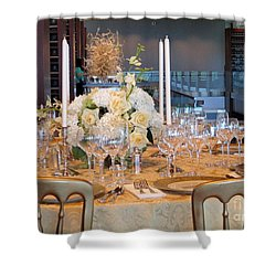 Clinton State Dinner 1 Shower Curtain by Randall Weidner