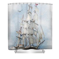 Clipper Ship In Sail Shower Curtain