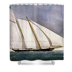 Clipper Yacht America Shower Curtain by Granger