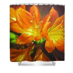 Clivias Shower Curtain