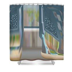 Cloak City Shower Curtain