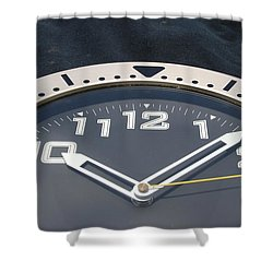 Clock Face Shower Curtain by Rob Hans
