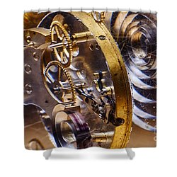 Clock Gears Shower Curtain