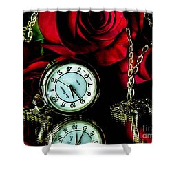 Clock-rose Shower Curtain