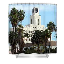 Clock Tower Building, Santa Monica Shower Curtain