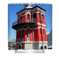 Clock Tower Cape Town Shower Curtain