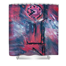 Clock Tower By Colleen Ranney Shower Curtain